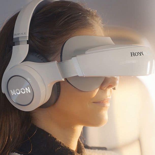 Мобильный кинотеатр в виде очков виртуальной реальности Royole Moon 3D