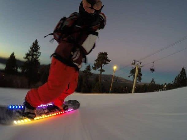 Светодиодная подсветка для сноуборда