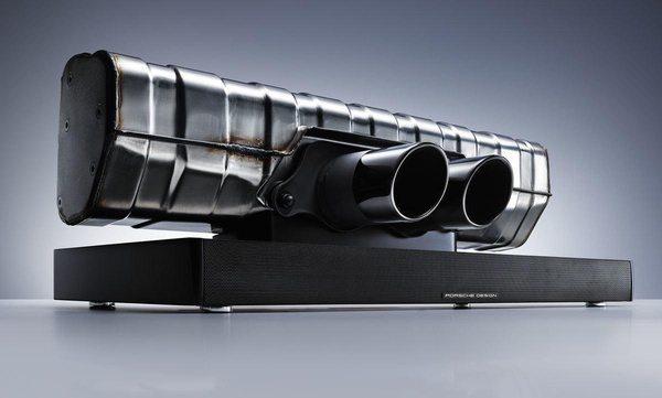 Звуковая система в виде выхлопной системы Porsche 911