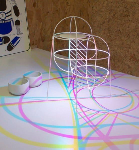 Геометрическая лампа CMYK Up