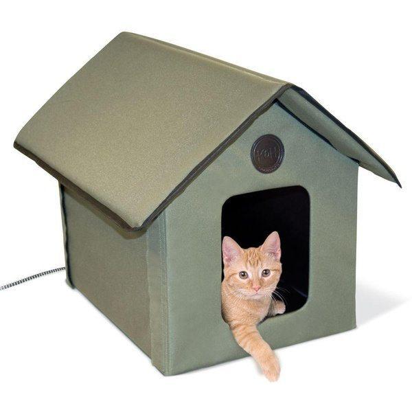 Домик для кошки с функцией отопления