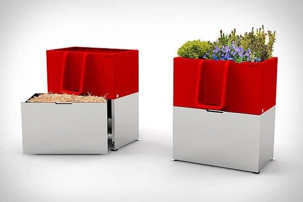 Биописсуар с комнатными растениями Uritrottoir
