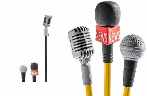 Ластики в форме микрофона, одевающиеся на карандаши