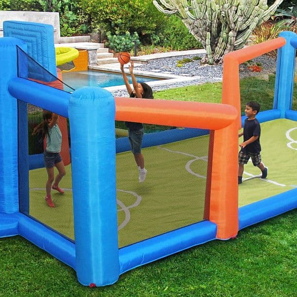Надувная баскетбольная площадка для детей Slama Jama