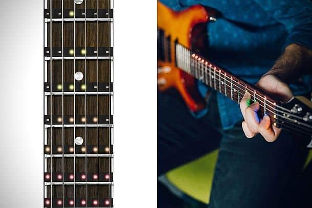 Светодиодная обучающая накладка на гитарный гриф Fret Zeppelin