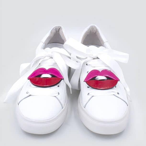 Шнурки с пластиковыми накладками для кроссовок Sneaker Patch Set Lips