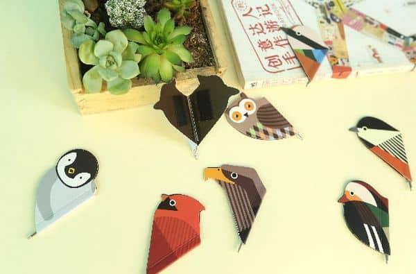 Складные магнитные закладки «Птицы»