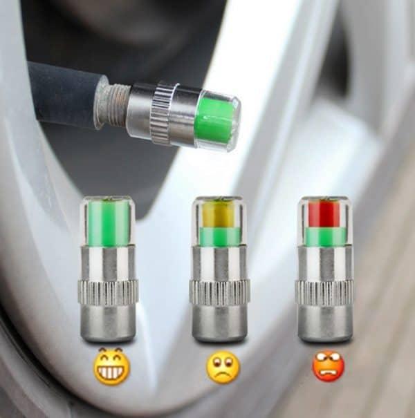 Датчики измерения давления в шинах с цветовой индикацией