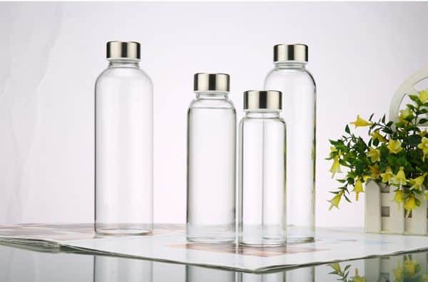 Спортивная бутылка из стекла (+чехол)