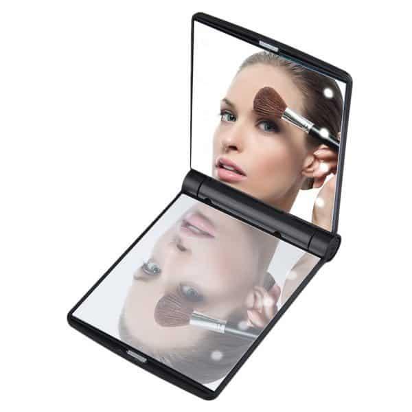 Складное зеркальце для макияжа с LED-подсветкой
