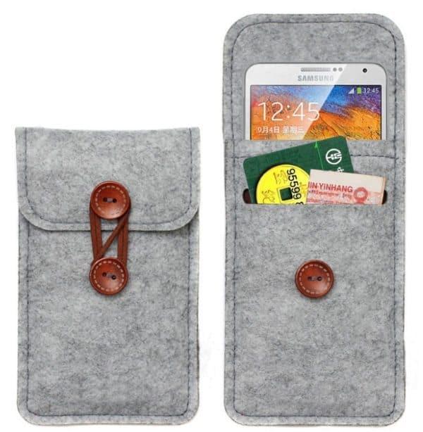 Закрытый войлочный чехол для смартфонов Samsung