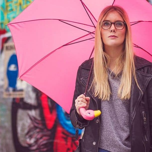 Зонтик с подставкой «Фламинго»