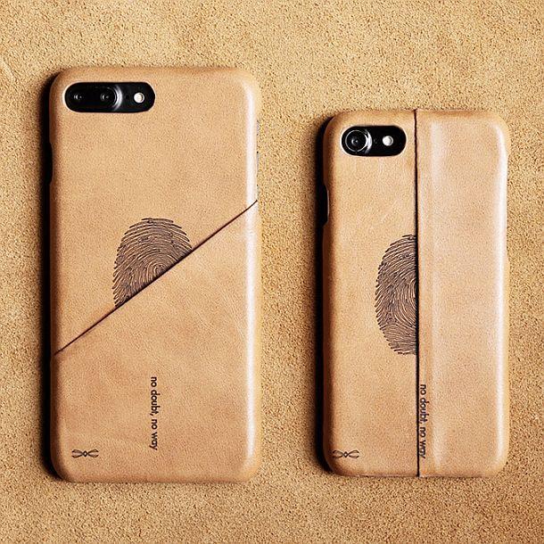 Кожаный чехол-бумажник для iPhone 7 Genuine