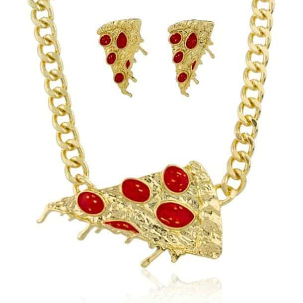 Комплект ювелирных украшений «Пицца»