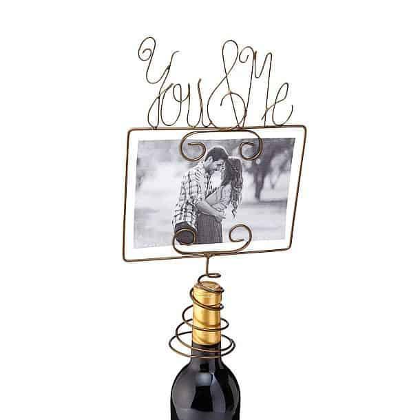 Насадка на винную бутылку с фоторамкой «Я и ты»