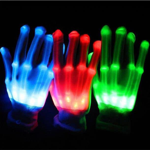Скелетообразные светодиодные перчатки