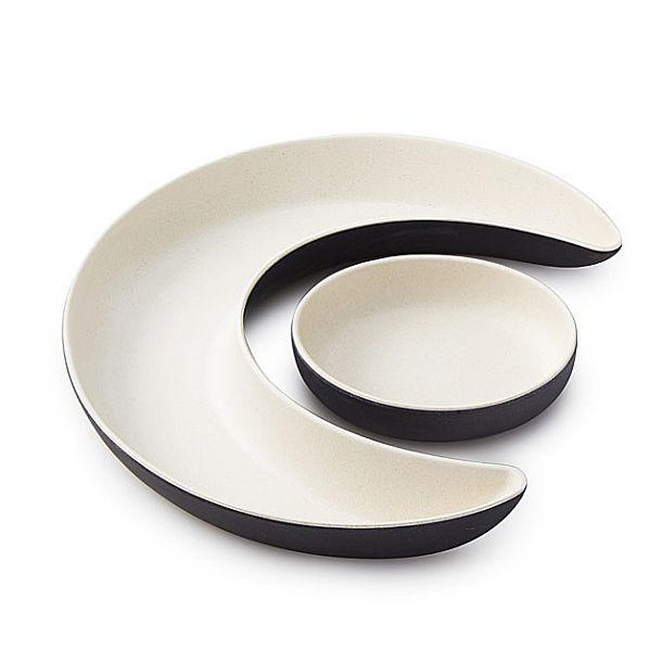 Фигурные тарелки в форме солнца и полумесяца