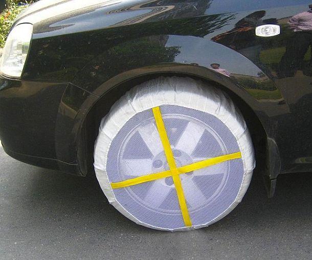 Чехлы на колеса для улучшения сцепления с дорогой