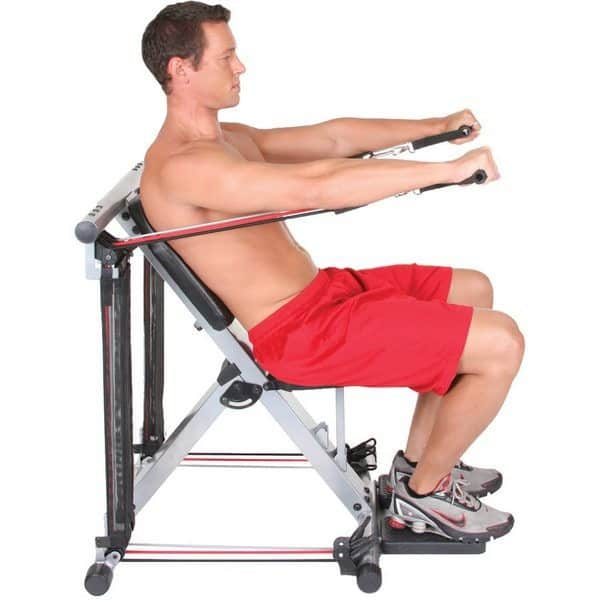 Складной домашний тренажёр для выполнения 50 упражнений
