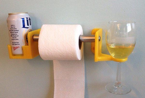 Держатель туалетной бумаги с креплением для напитков