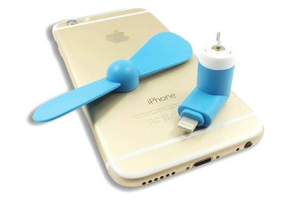 Миниатюрный вентилятор для iPhone и iPad