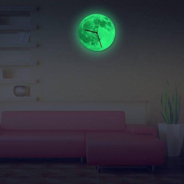 Настенные часы «Луна» с люминесцентным эффектом