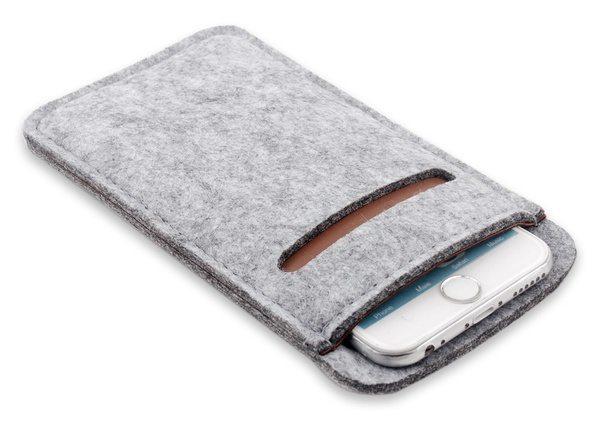 Мягкий войлочный чехол для iPhone с отделом для карточек