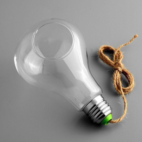 Колба для растений в виде лампы накаливания