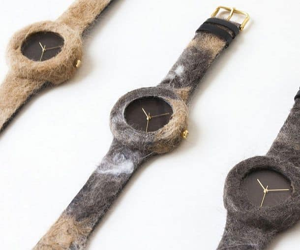 Коллекция наручных часов Companion с корпусами из шерсти домашних питомцев