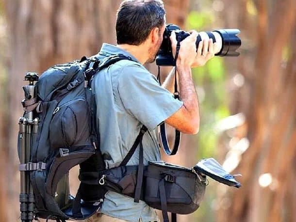 Рюкзак с поворачивающимся модулем для фотоаппарата