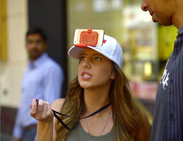 Устройство для крепления смартфонов на кепке Clip-A-Phone