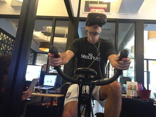Виртуальный велотренажёр VirZOOM