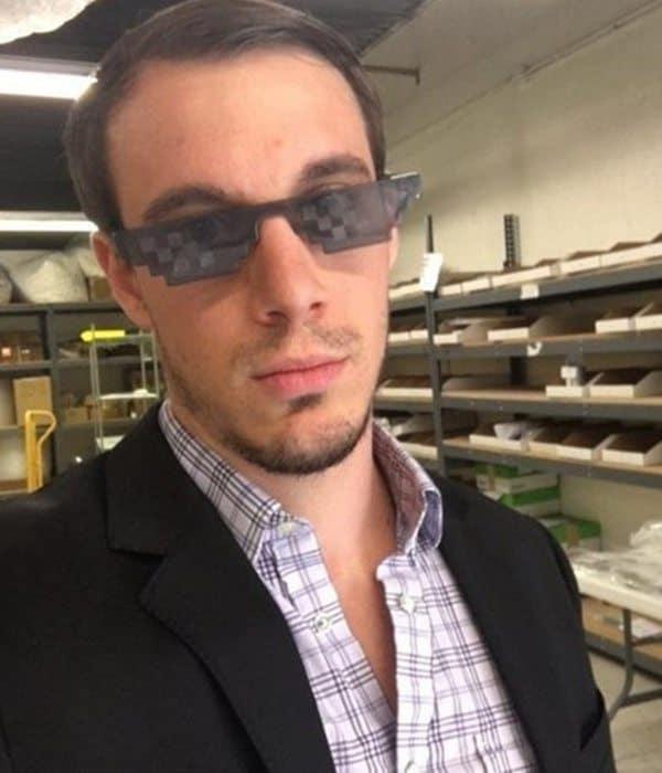 Солнцезащитные очки в стиле 8-bit