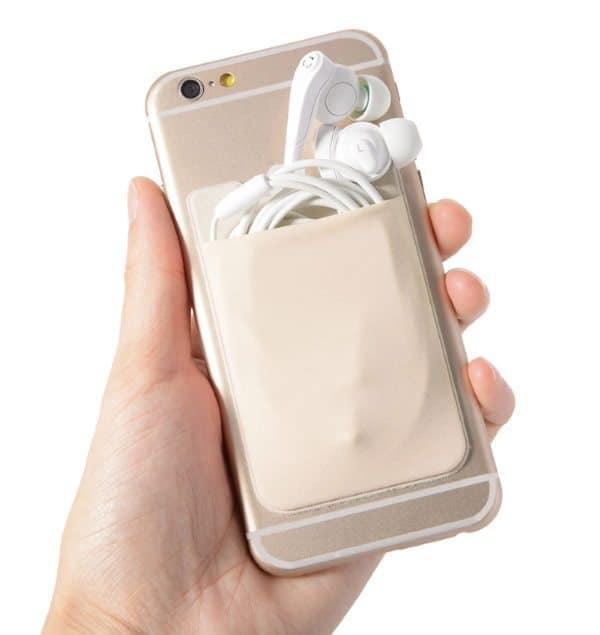 Накладной эластичный кармашек для смартфонов