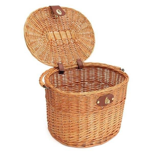 Плетёная корзина для велосипеда и пикников