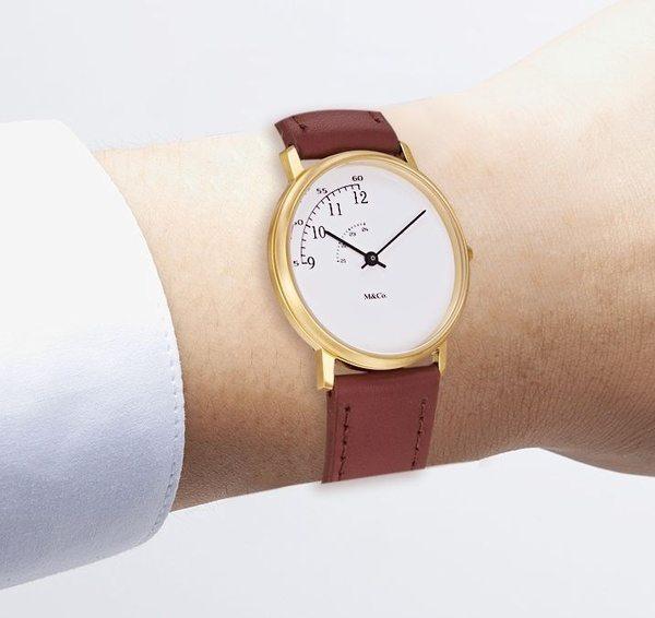Наручные часы с циферблатом в виде куска пирога от M&Co