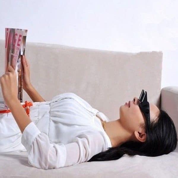 Зеркальные очки для удобного просмотра ТВ и чтения лёжа