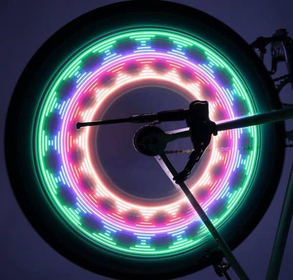 LED-панель для украшения велосипедных колёс