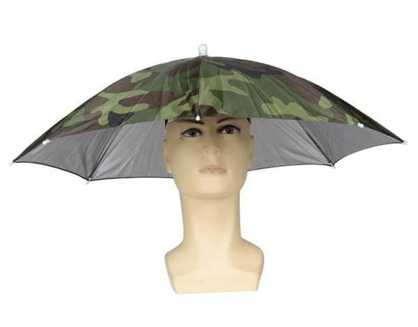 Камуфляжный зонт-кепка