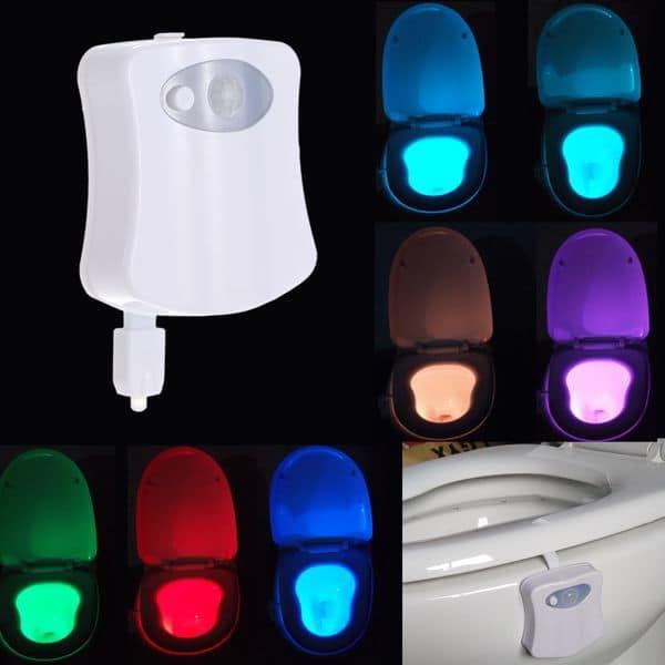 Цветная автоматическая подсветка для унитаза