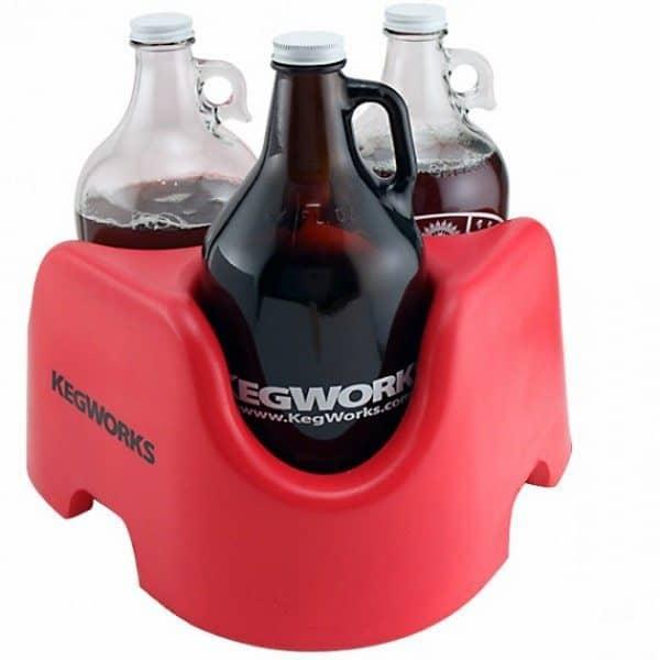 Подставка для бережной транспортировки большого количества пива от Kegworks