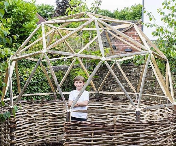Комплект шарнирных деталей для сборки купольных домиков