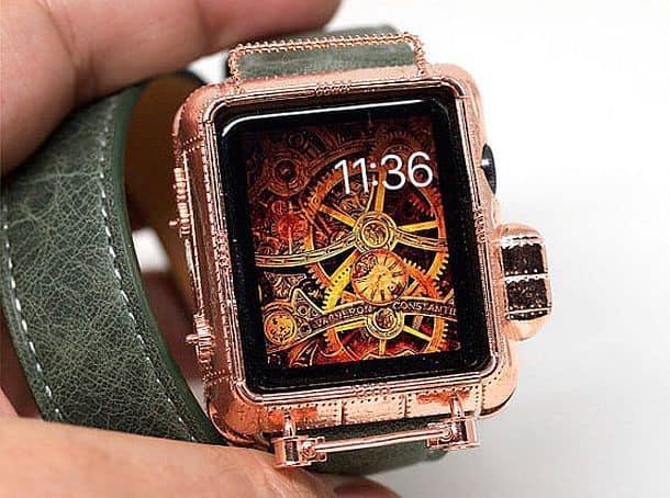 Медный чехол для «умных» часов Apple Watch