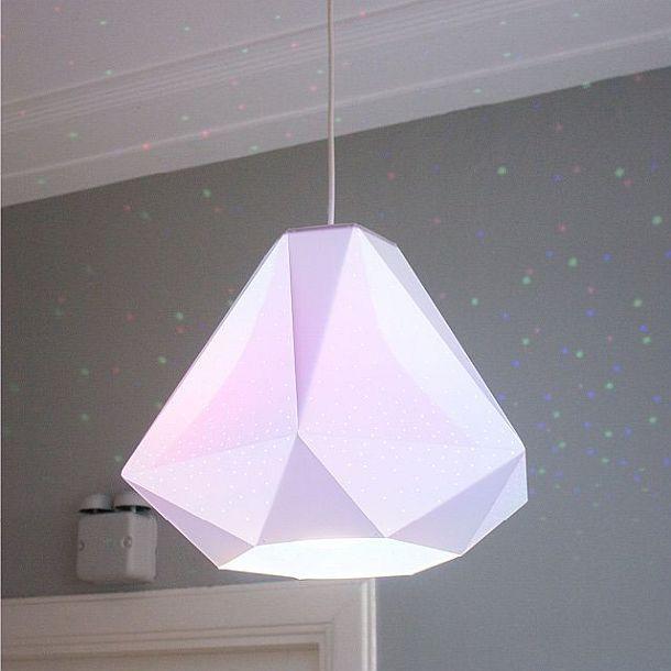Подвесной светильник со складным абажуром в форме бриллианта