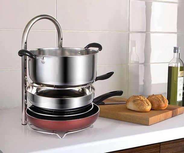 Регулируемая стойка-органайзер для 5 кастрюль или сковородок Max Lifewit