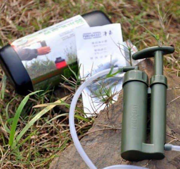 Туристический фильтр для воды со встроенным насосом
