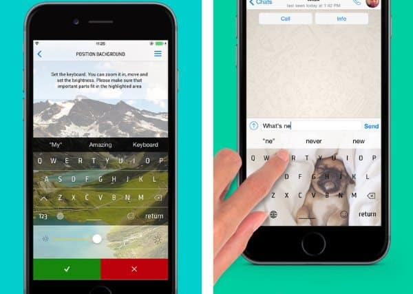Wallpapers For Keyboard — клавиатура с фоновым рисунком для iPhone
