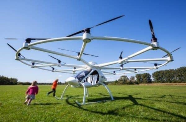 Самый безопасный вертолёт Volocopter 2X