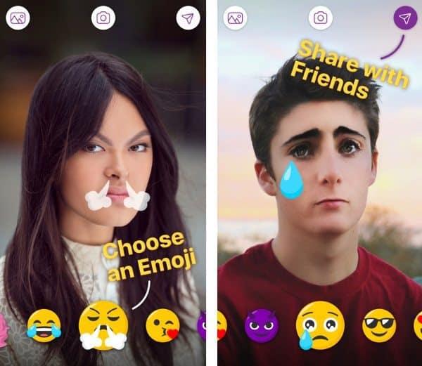 Emoji - приложение для редактирования селфи в эмодзи-стиле