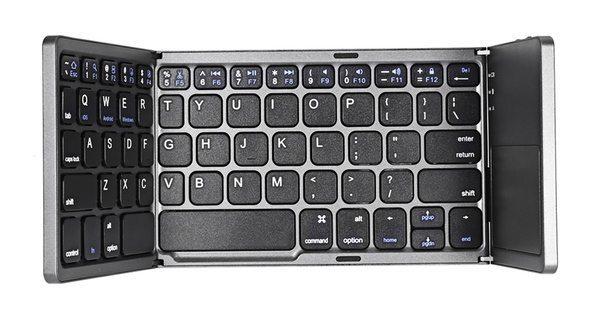 Портативная складная клавиатура с тачпадом